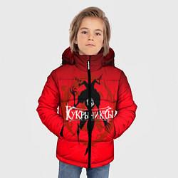Куртка зимняя для мальчика Кукрыниксы: Дьявол цвета 3D-черный — фото 2