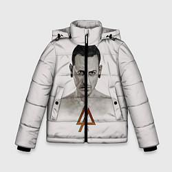 Куртка зимняя для мальчика Chester Bennington цвета 3D-черный — фото 1