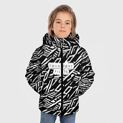 Куртка зимняя для мальчика Twenty One Pilots: Pattern цвета 3D-черный — фото 2