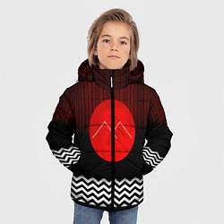 Куртка зимняя для мальчика Twin Peaks Sun цвета 3D-черный — фото 2