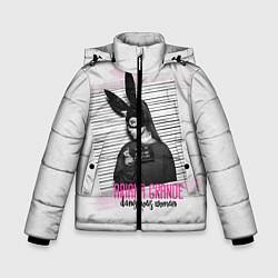 Куртка зимняя для мальчика Ariana Grande: Dangerous woman цвета 3D-черный — фото 1