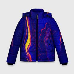 Куртка зимняя для мальчика Ультрафиолетовые разводы цвета 3D-черный — фото 1