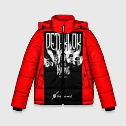 Куртка зимняя для мальчика Dethklok: Knitting factory цвета 3D-черный — фото 1