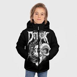 Детская зимняя куртка для мальчика с принтом Dethklok: Goat Skull, цвет: 3D-черный, артикул: 10134390306063 — фото 2