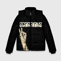 Детская зимняя куртка для мальчика с принтом Scorpions Rock, цвет: 3D-черный, артикул: 10134452906063 — фото 1