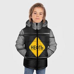 Куртка зимняя для мальчика Нефть цвета 3D-черный — фото 2