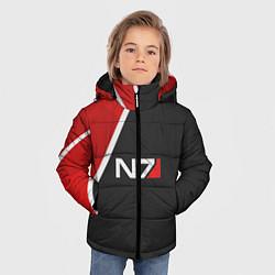 Куртка зимняя для мальчика N7 Space цвета 3D-черный — фото 2