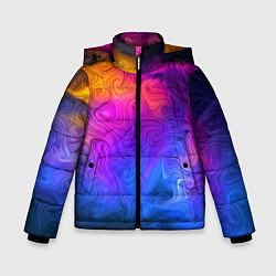 Детская зимняя куртка для мальчика с принтом Узор цвета, цвет: 3D-черный, артикул: 10135228306063 — фото 1