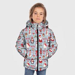 Куртка зимняя для мальчика Рождественская Милота цвета 3D-черный — фото 2