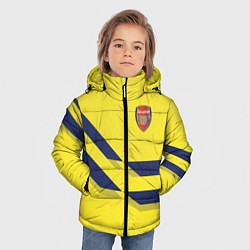 Куртка зимняя для мальчика Arsenal FC: Yellow style цвета 3D-черный — фото 2