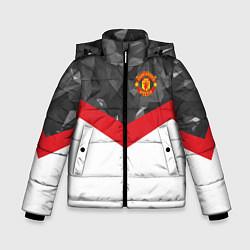 Куртка зимняя для мальчика Man United FC: Grey Polygons цвета 3D-черный — фото 1