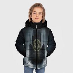 Куртка зимняя для мальчика HIM: Devil Castle цвета 3D-черный — фото 2