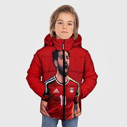 Куртка зимняя для мальчика Мохамед Салах цвета 3D-черный — фото 2