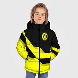 Куртка зимняя для мальчика BVB FC: Yellow style цвета 3D-черный — фото 2