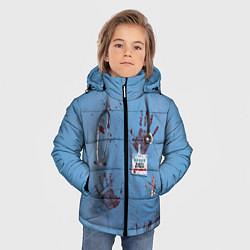 Куртка зимняя для мальчика Костюм врача кровь цвета 3D-черный — фото 2