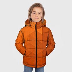 Куртка зимняя для мальчика Orange abstraction цвета 3D-черный — фото 2