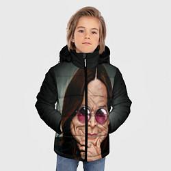 Детская зимняя куртка для мальчика с принтом Оззи Осборн, цвет: 3D-черный, артикул: 10138083706063 — фото 2