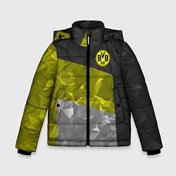 Куртка зимняя для мальчика BVB FC: Dark polygons цвета 3D-черный — фото 1