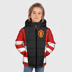 Куртка зимняя для мальчика Man UTD FC: Vintage 2018 цвета 3D-черный — фото 2