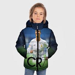 Куртка зимняя для мальчика CR7 цвета 3D-черный — фото 2