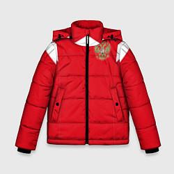 Детская зимняя куртка для мальчика с принтом Сборная России: ЧМ 2018, цвет: 3D-черный, артикул: 10139457306063 — фото 1