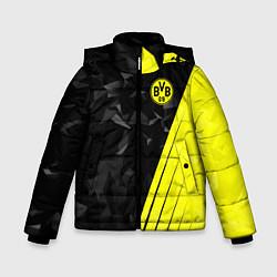 Куртка зимняя для мальчика FC Borussia Dortmund: Abstract цвета 3D-черный — фото 1