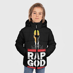 Куртка зимняя для мальчика Rap God Eminem цвета 3D-черный — фото 2