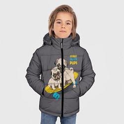 Куртка зимняя для мальчика Street Skate Pups цвета 3D-черный — фото 2