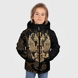 Куртка зимняя для мальчика Золотой Герб России цвета 3D-черный — фото 2