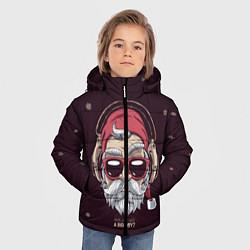 Куртка зимняя для мальчика Who was a bad boy? цвета 3D-черный — фото 2