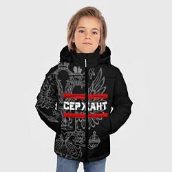 Куртка зимняя для мальчика Сержант: герб РФ цвета 3D-черный — фото 2