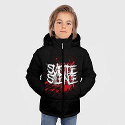 Куртка зимняя для мальчика Suicide Silence Blood цвета 3D-черный — фото 2