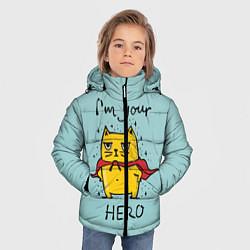 Куртка зимняя для мальчика I'm your Hero цвета 3D-черный — фото 2