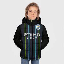 Куртка зимняя для мальчика FC Manchester City: Away 18/19 цвета 3D-черный — фото 2