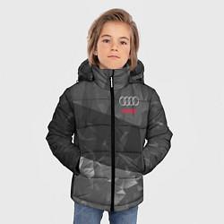Куртка зимняя для мальчика AUDI SPORT цвета 3D-черный — фото 2