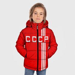 Куртка зимняя для мальчика Cборная СССР цвета 3D-черный — фото 2