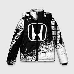 Куртка зимняя для мальчика Honda: Black Spray цвета 3D-черный — фото 1