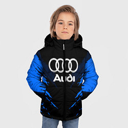 Куртка зимняя для мальчика Audi: Blue Anger цвета 3D-черный — фото 2