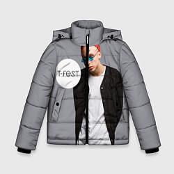 Детская зимняя куртка для мальчика с принтом T-Fest: Grey Style, цвет: 3D-черный, артикул: 10147368706063 — фото 1
