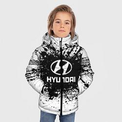 Куртка зимняя для мальчика Hyundai: Black Spray цвета 3D-черный — фото 2