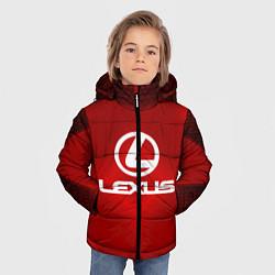 Куртка зимняя для мальчика Lexus: Red Light цвета 3D-черный — фото 2