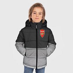 Куртка зимняя для мальчика ФК Арсенал: Серый стиль цвета 3D-черный — фото 2