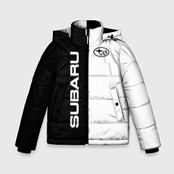 Куртка зимняя для мальчика Subaru B&W цвета 3D-черный — фото 1