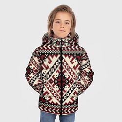 Куртка зимняя для мальчика Славянский орнамент цвета 3D-черный — фото 2