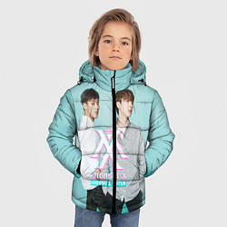 Куртка зимняя для мальчика Shownu & Kihyun цвета 3D-черный — фото 2