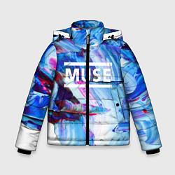 Куртка зимняя для мальчика MUSE: Blue Colours - фото 1