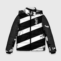 Куртка зимняя для мальчика Juve: B&W Lines цвета 3D-черный — фото 1