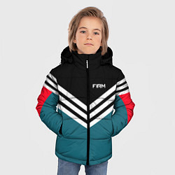Куртка зимняя для мальчика Firm 90s: Arrows Style цвета 3D-черный — фото 2