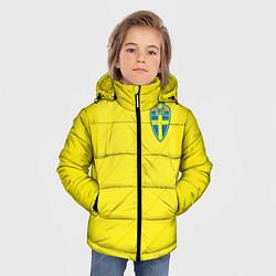 Куртка зимняя для мальчика Сборная Швеции: Домашняя ЧМ-2018 цвета 3D-черный — фото 2