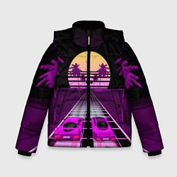 Куртка зимняя для мальчика Digital Race цвета 3D-черный — фото 1